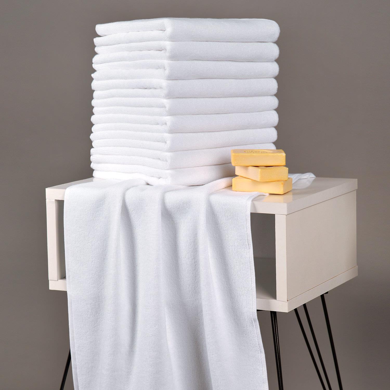 Evteks Pamuklu Beyaz 10lu El Havlusu 50x90cm 8